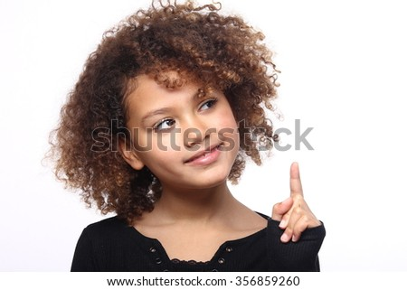 Beautiful afro girl - stock photo