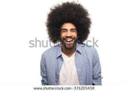 Beautiful afro man - stock photo