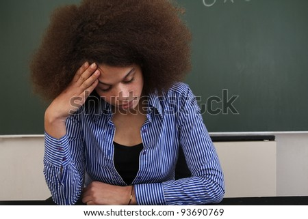 Beautiful afro teacher