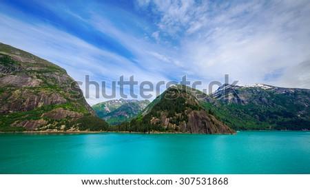 Beautiful Alaska coastline - stock photo