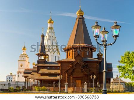 beautiful All Saints Church on a sunny day, Minsk, Belarus - stock photo