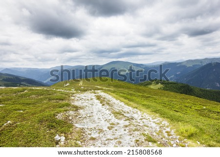 Beautiful alpine landscape in Romania - stock photo