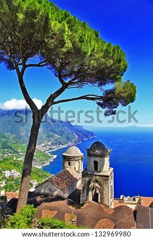 beautiful Amalfi coast - Ravello - stock photo