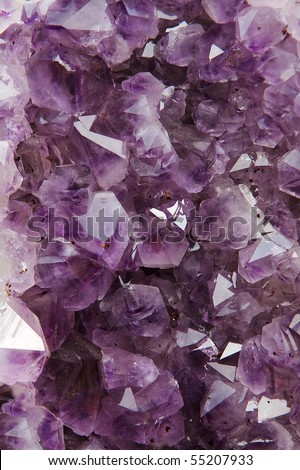 Beautiful amethyst crystal background - stock photo