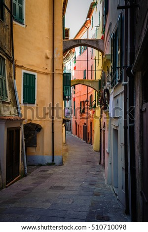 beautiful ancient streets of the Italian city