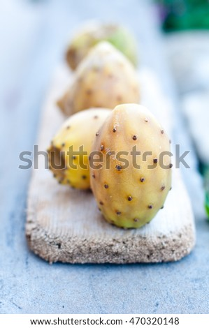 beautiful and delicious fruit of prickly pears,fresh