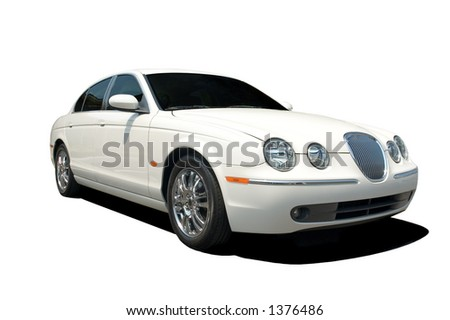 Beautiful and expensive European luxury car isolated on a white background. Look in my gallery for more car photos like this.