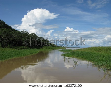 Beautiful and interesting landscapes, Amazonia Brazil  - stock photo