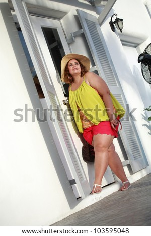 Beautiful and large young women - stock photo