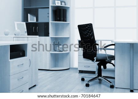 beautiful and light furniture in a modern office - stock photo