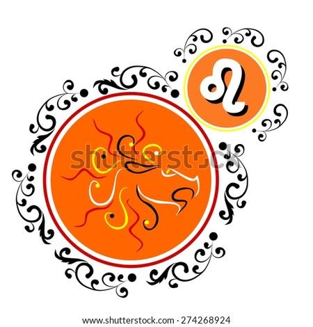 beautiful and original image of the zodiac sign. - stock photo
