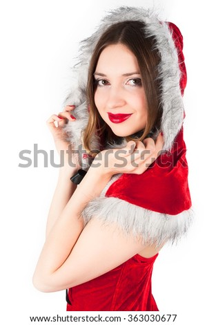 Beautiful and sexy christmas woman