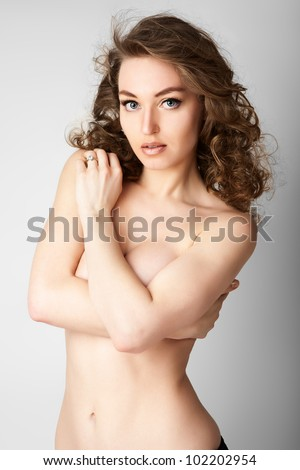 Beautiful and sexy woman. - stock photo