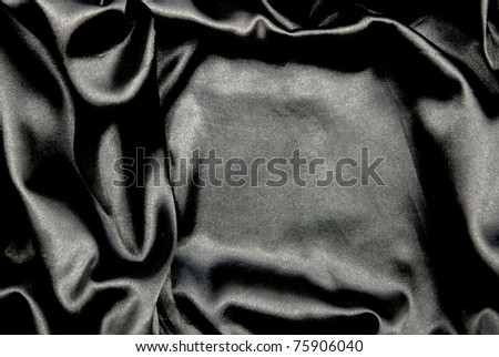 Beautiful and smooth black satin background - stock photo