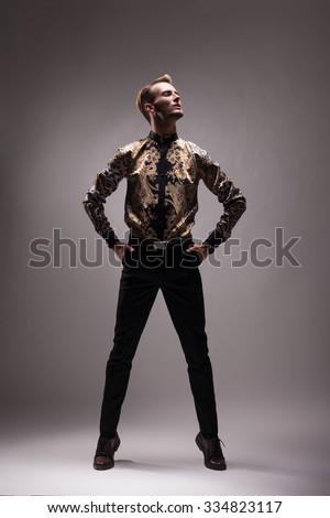 Heroic pose man