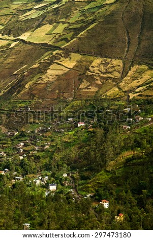 Beautiful andean city of Canar in Azogues Ecuador South America