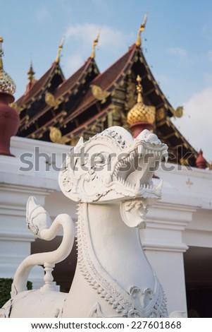 Beautiful antique Pagoda in temple, Chiangmai Thailand - public - stock photo