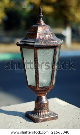 Beautiful antique style street lantern
