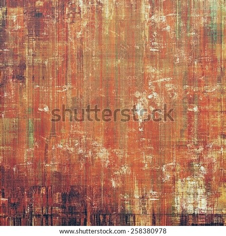 Beautiful antique vintage background. With different color patterns: yellow (beige); brown; gray; red (orange) - stock photo