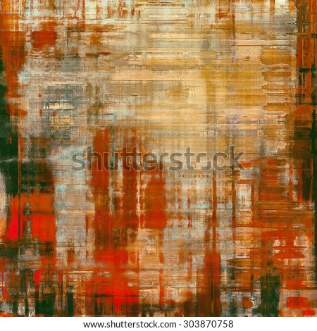 Beautiful antique vintage background. With different color patterns: yellow (beige); brown; red (orange); green - stock photo