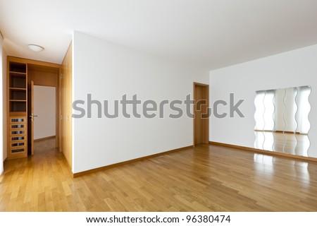 beautiful apartment, interior, empty room - stock photo
