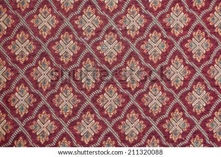 Beautiful, arab, arabic, arabian, arabesque fabric background. - stock photo
