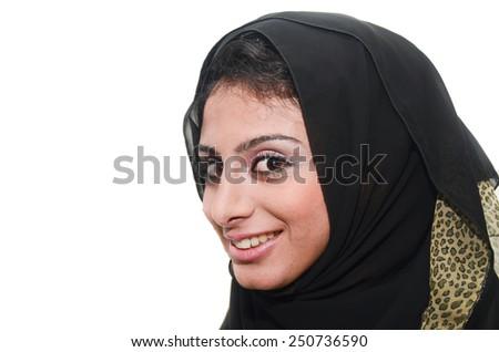 Beautiful Arab Female - stock photo