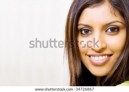 beautiful arabian woman portrait - stock photo