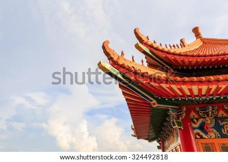 beautiful architecture china's style - stock photo