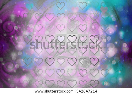 Beautiful artistic background with heart pattern  - stock photo