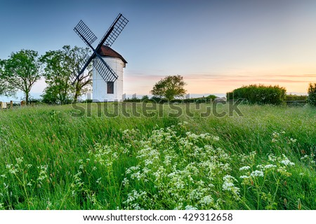 Beautiful Ashton Windmill at Chapel Allerton in Somerset
