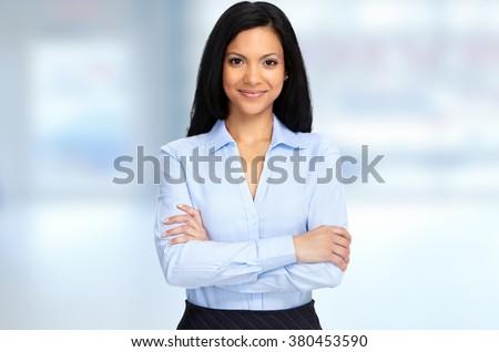 Beautiful asian business woman. - stock photo