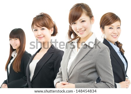 Beautiful asian businesswomen isolated on white background  - stock photo