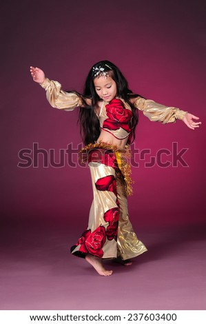 Beautiful asian girl dancing