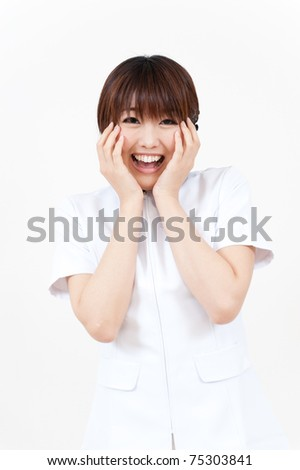 beautiful asian nurse smiling