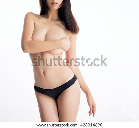beautiful asian sexy underware girl model - stock photo