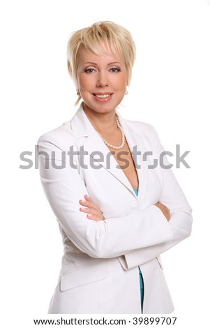 beautiful attractive and old woman - stock photo