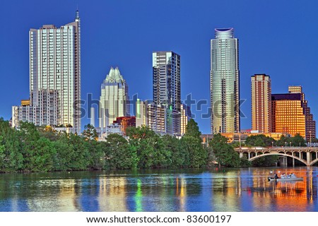 Beautiful Austin skyline