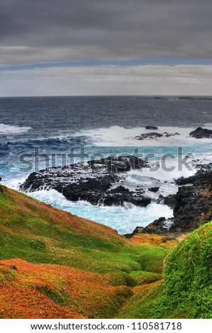 Beautiful australian coastline.Phillip Island. Hdr Shot - stock photo