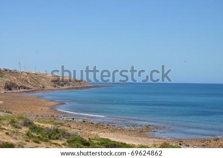 Beautiful Australian Shore. Hallett Cove, Adelaide. - stock photo