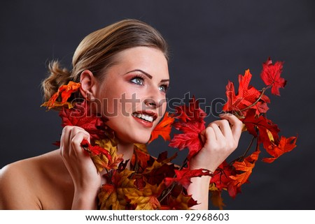 Beautiful Autumn Girl and make up