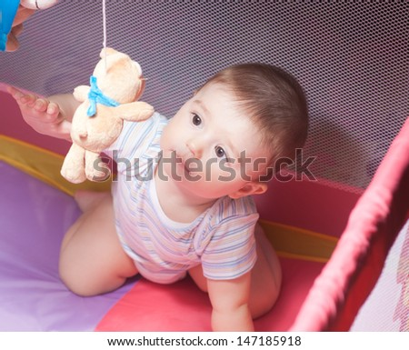 beautiful  baby - stock photo