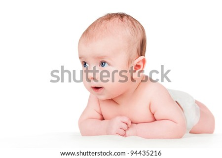 beautiful baby, isolated on white