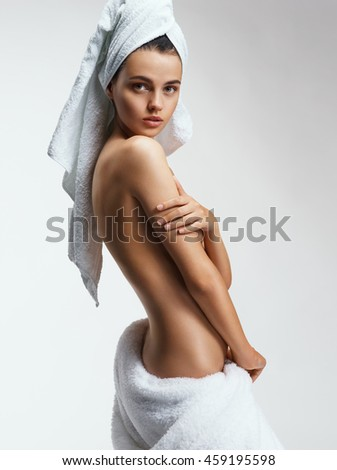 Beautiful back of young woman. Beauty & Skin care concept - stock photo