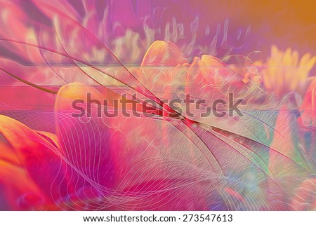 Beautiful background abstract flower