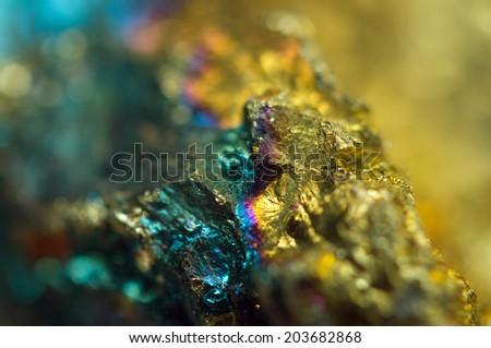 Beautiful background. Jewel ore.  Macro. Extreme closeup  - stock photo