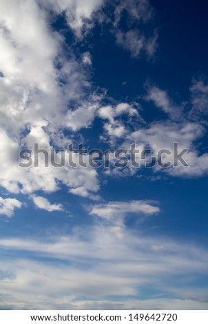 beautiful background of blue sky with clouds