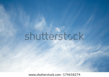 beautiful background of clouds against blue sky - stock photo