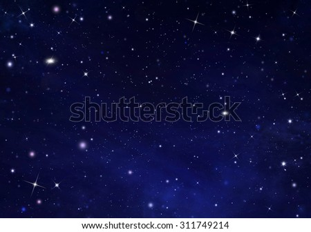 beautiful background of the night sky - stock photo