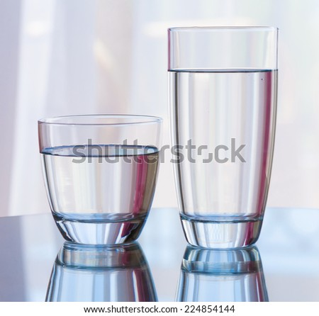 beautiful  background water  glass healthy life - stock photo